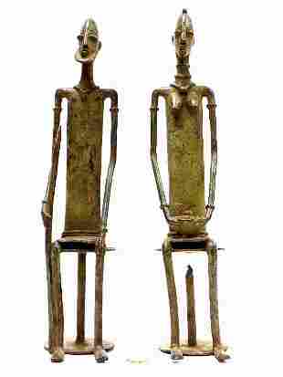 ANCIENT AFRICAN DOGON TRIBE BRONZE FIGURES