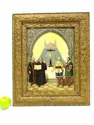 19TH CENTURY RELIGIOUS CHROMOLITHOGRAPH