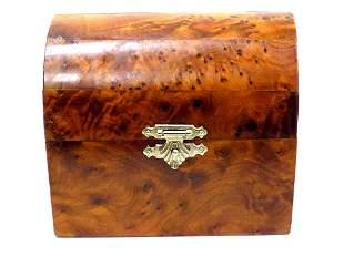 WONDERFUL BURL WALNUT TREASURE BOX