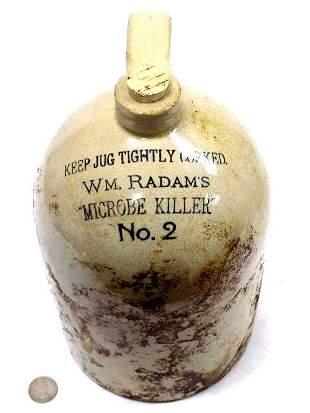 W.M. RADAMS MICROBE KILLER No. 2 STONEWARE JUG
