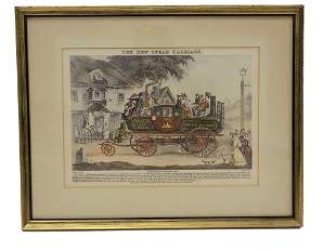 MORTON - THE NEW STEAM CARRIAGE LITHOGRAPH