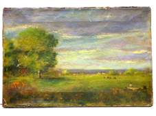 GEORGE INNESS - PASTORAL LANDSCAPE PAINTING