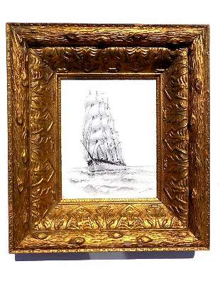 WILLIAM ALEXANDER COULTER - CLIPPER SHIP PEN & INK