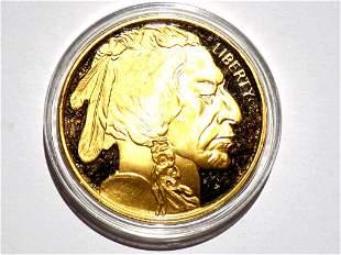 2012 US GOLD BUFFALO INDIAN HEAD $50 COIN COPY
