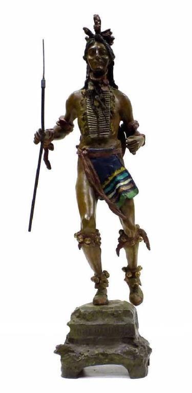 CARL KAUBA - AMERICAN INDIAN CHIEF BRONZE