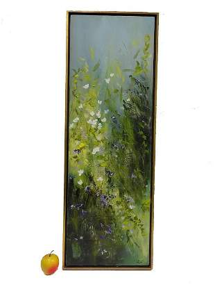 WILLIAM ALLISTER - WILD FLOWERS PAINTING