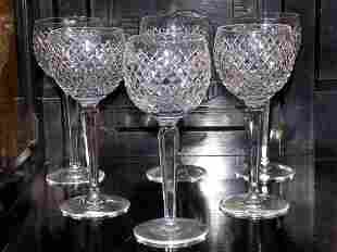 WATERFORD CRYSTAL CHAMPAGNE / WINE GLASS SET