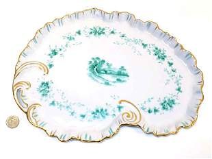 VICTORIAN SCENIC PORCELAIN DRESSER TRAY