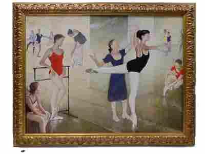 MARC KLIONSKY - MUSEUM QUALITY BALLET STUDIO PAINTING