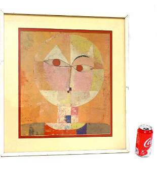 PAUL KLEE - ABSTRACT HEAD OF MAN LITHOGRAPH