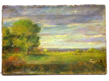 GEORGE INNESS - HUDSON VALLEY NY LANDSCAPE PAINTING