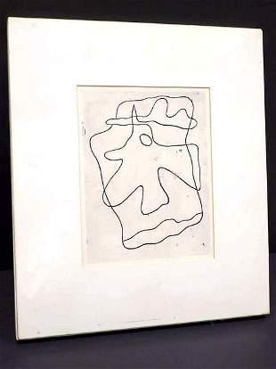JEAN HANS ARP - MODERN ART ABSTRACT ETCHING