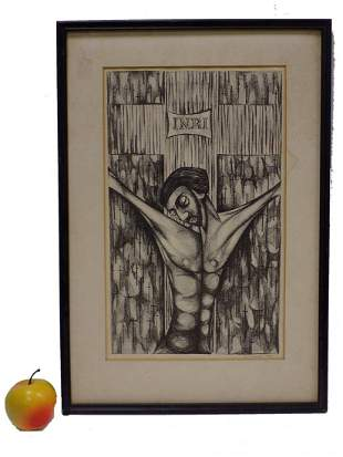 TUCCI - LORD JESUS SIGNED ART LITHOGRAPH