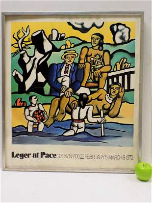 FERNAND LEGER - LEGER AT PACE EXHIBITION POSTER