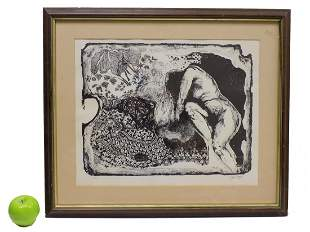 GRINBERGS - NUDE LADY SIGNED LITHOGRAPH