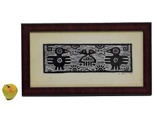 E. CANUL - MYTHICAL MAYAN SIGNED SERIGRAPH