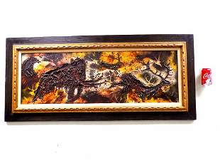 LUZON - BIG MODERN ABSTRACT ANIMALS PAINTING