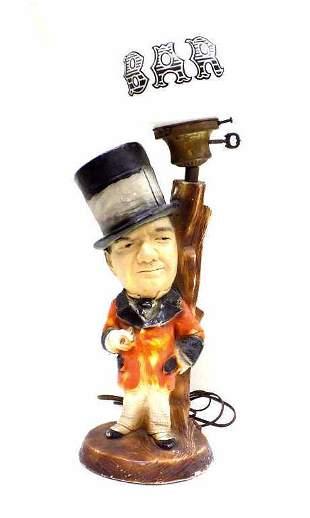 W.C. FIELDS FIGURAL CERAMIC BAR LAMP