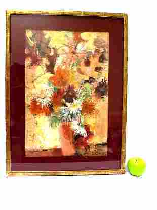 DOROTHY DW CRUMB ABSTRACT FLOWERS WATERCOLOR
