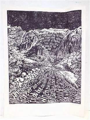 DANIELLE CHASON - BLACK MUDDY RIVER LITHOGRAPH