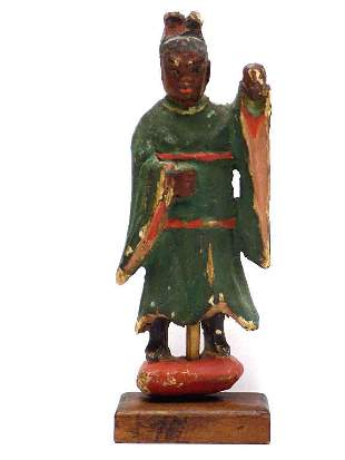 CHINESE RELIGIOUS CARVED SHRINE FIGURE