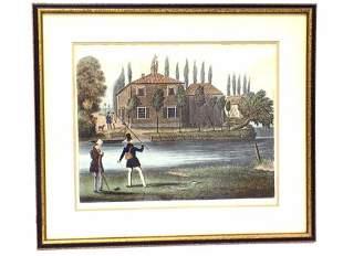 1831 FLY FISHING CHROMOLITHOGRAPH PRINT
