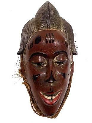 AFRICAN BAULE CARVED TRIBAL MASK