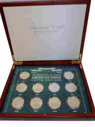 AMERICAN EAGLE SILVER DOLLARS COIN SET