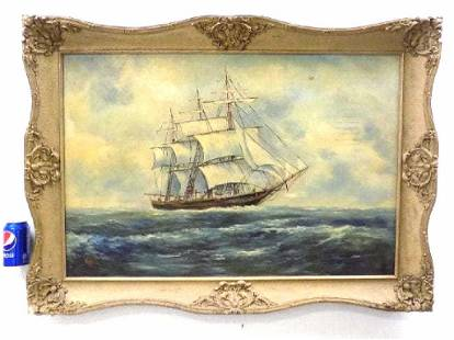 WELSCH - AMERICAN SAILING CLIPPER SHIP PAINTING
