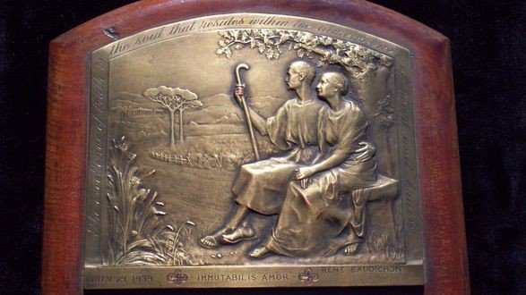 1: RENE BAUDICHON ( French 1878 -1963 ) BRONZE PLAQUE