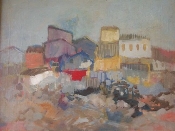 6: ANDRE GISSON FRENCH PAINTING 20TH C.