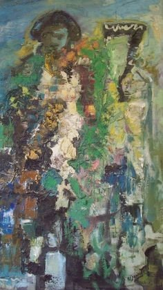 12: K. DOWNER - AMERICAN - ABSTRACT MAN PAINTING
