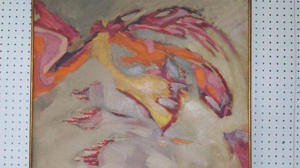 13: MARA WOLFF - BIRD OF DESTINY PAINTING