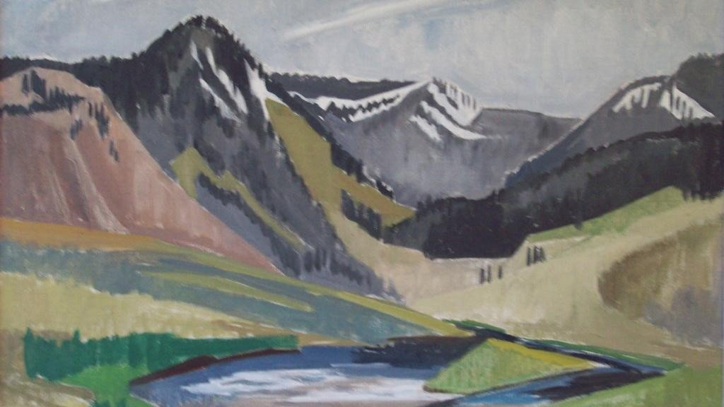 16: MOUNTAIN SPRING - CUBIST PAINTING