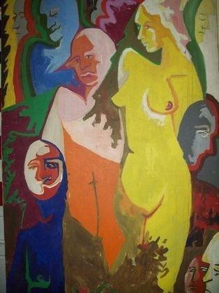 """17: P. CATANZAROG - """""""" MODERN MUSE """""""" PAINTING"""