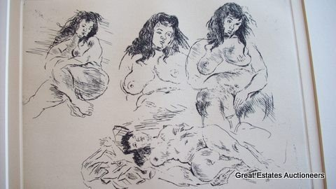 7: RAPHAEL SOYER SIGNED AAA NUDE ETCHING