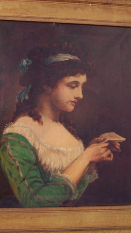 10: VICTORIAN LADY PORTRAIT ON CANVAS