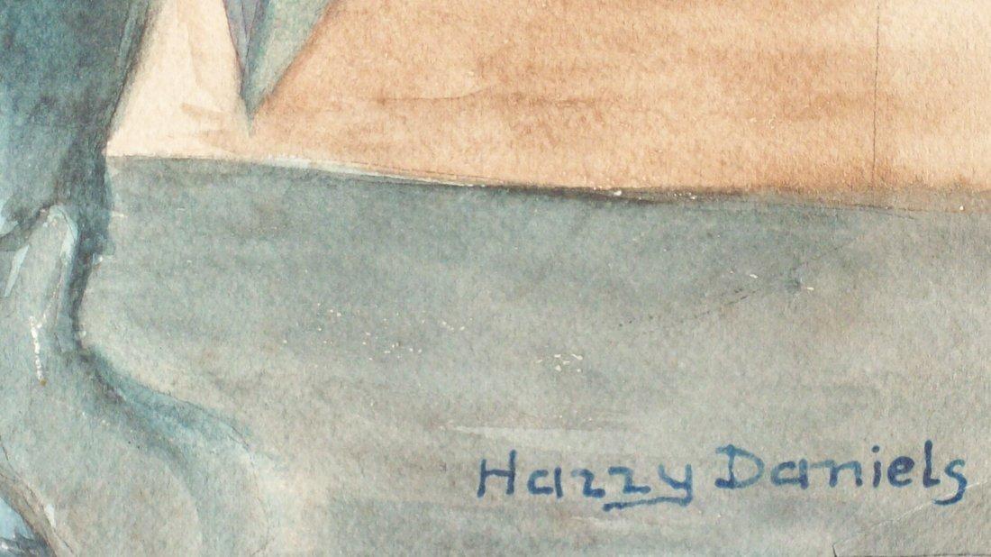 25B: HARRY DANIELS - JEWISH RABBI WATERCOLOR PAINTING - 3