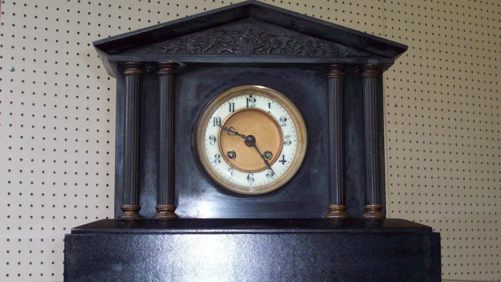 11X: MARBLE A.D. MOUGIN ROMAN COLUMNAR CLOCK