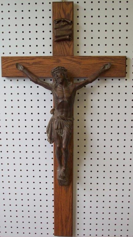 15X: ESCUDERO - JESUS HOLY CRUCIFIXION SCULPTURE
