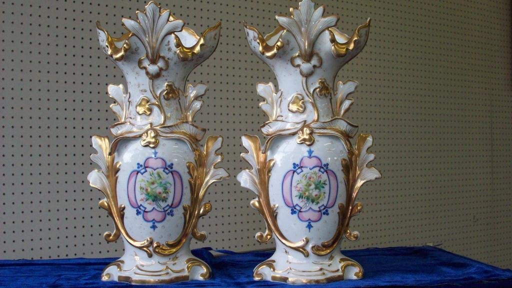 29X: VICTORIAN GOLD GILT OLD PARIS VASES