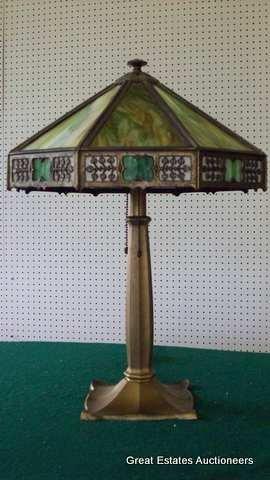 200X: RARE ARTS & CRAFTS BRADLEY HUBBARD LAMP