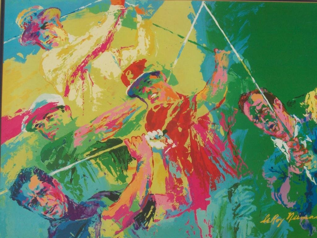 718: LEROY NEIMAN MODERN ART GOLF LITHOGRAPH