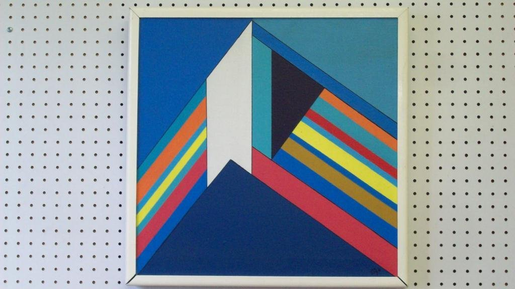 720: MODERN ABSTRACT PRISM PAINTING