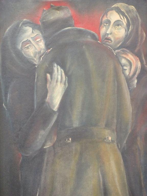 MAZIOR - RUSSIAN - GRIEVING SOLDIER PAINTING