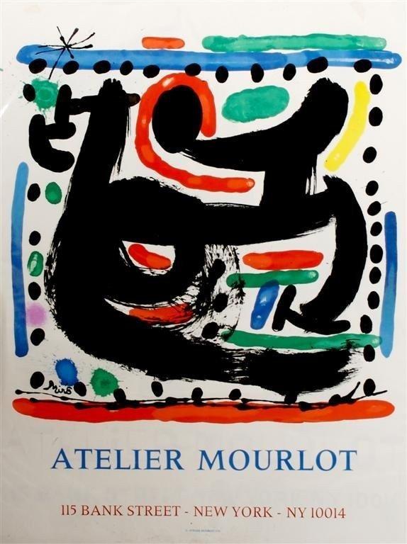 JOAN MIRO ATELIER MOURLOT ART LITHOGRAPH POSTER