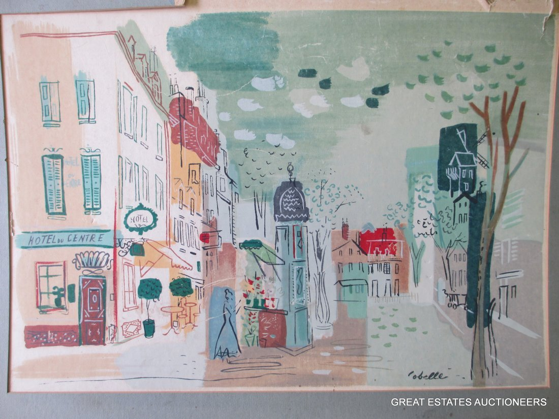COBELLE - PARIS SCENE MIXED MEDIA