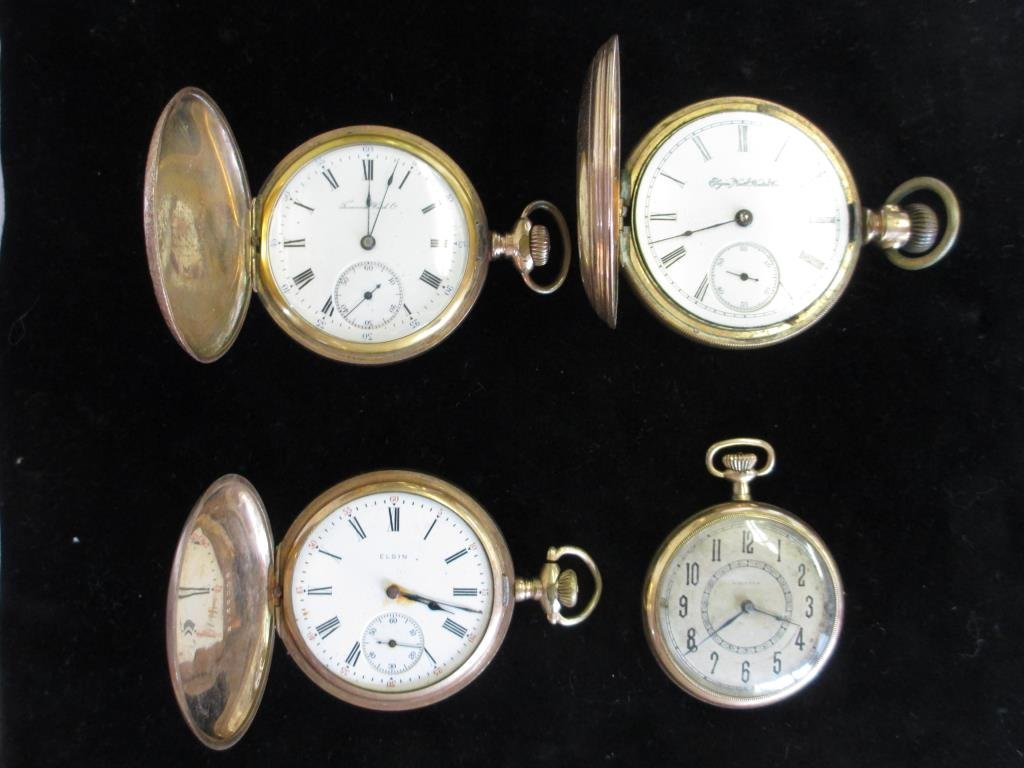 ANTIQUE POCKET WATCH LOT OF 4