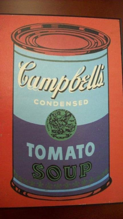 ANDY WARHOL CAMPBELLS SOUP CAN LITHOGRAPH