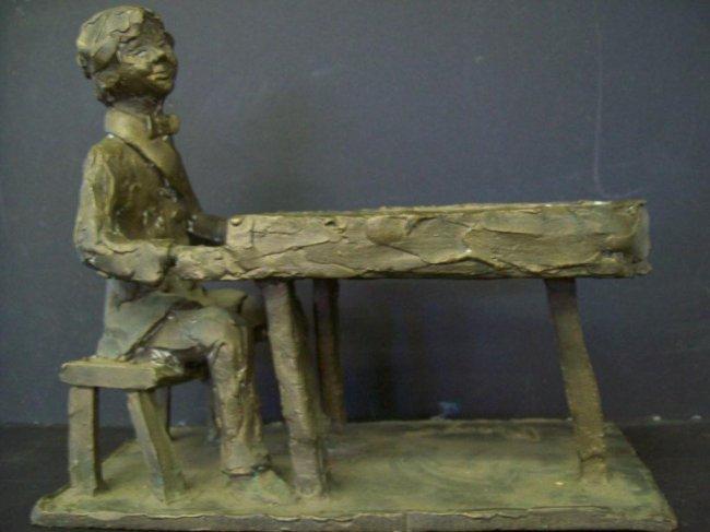 MONYO - MODERNIST PIANO MUSICIAN BRONZE